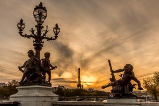 Un soir de Novembre au pont Alexandre III 🇫🇷🗼🌇