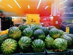 watermelons (meeeeeeeeeel) Tags: sandia interior indoors hujiapp hujicam huji verde green brazil brasil carrefour supermercado supermarket fruits frutas melancias watermelons