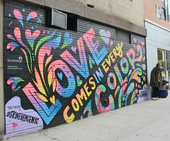 . (SA_Steve) Tags: jasonnaylor art mural streetart wall lovecomesineverycolor color colorful colour colourful love nyc newyorkcity manhattan