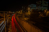 The artery to the heart of the city pumps red.... (Dafydd Penguin) Tags: night shots after dark slow shutter speed long exposure tripod city urban barcelona spain catalunya catalonia light stream trail nikon df nikkor 20mm af f28