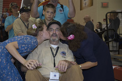 Fulton, Bernard - 25 White (indyhonorflight) Tags: ihf indyhonorflight 25 homecoming kissing dawnabranson