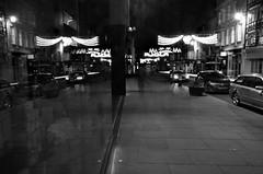 Double night vision (Sundornvic) Tags: shrewsbury light dark night bw