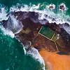 Fishy Kingdom (Rodney Campbell) Tags: pool drone ocean sunset monavale water aerial topdown waves newsouthwales australia au