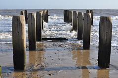 On the beach (Kirkleyjohn) Tags: beach sands lowestoft lowestoftsouthbeach sunshine groyne water waves
