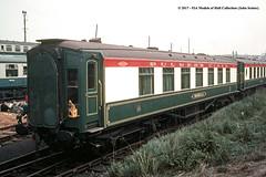 c.1969 - Tyseley, Birmingham. (53A Models) Tags: britishrail southernrailway bulmers pullmanparlourbrake morella carno36 passengercoach preserved tyseley birmingham train railway locomotive railroad