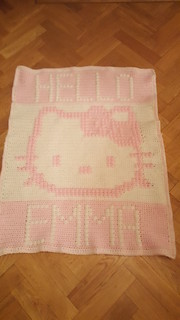 Kitty blanket for Emma