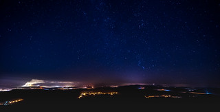Sternenhimmel über dem Jeschken