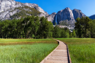 El Capitan and Upper Yosemite Falls