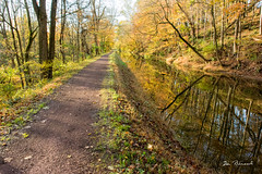 erwinna Delaware Canal towpath (dfbphotos) Tags: 2017 october fall collections reflections water nature canal erwinna buckscounty places towpath pa usa
