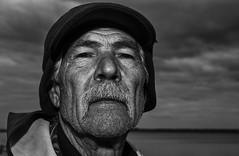 Pescatore di Cabras (nicolamarongiu) Tags: pescatore cabras biancoenero blackandwhite monocrome monocromo ritratto portait sguardo sardegna sardinia italy tradizione fisherman