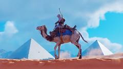 Between Two Pyramids (richardklingsborg) Tags: pyramids egypt history videogamephotography videogames assassinscreedorigins camels