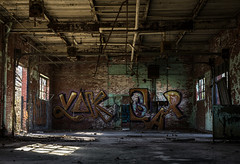 Railroad Roundhouse (Rodney Harvey) Tags: abandoned railroad roundhouse train east saint louis missouri urban decay urbex exploration grafitti