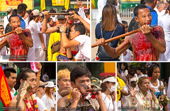 Phuket Vegetarian Festival 2017 (forum.linvoyage.com) Tags: portrait horror phuketvegetarianfestival 2017 thailand people show night street flag traditional national chinese town city annual costume ecstasy entrancement fire huge celebrate crowd girl evening holy thai helloween phuket blood vegetarian festival terrible face boy women men red yellow gold