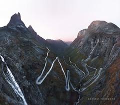Trollstigen (Ramiro Torrents) Tags: trollstigen norway north mountains mountain road waterfall sunset europe sony a7r