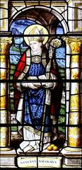 Saint Nicholas (Lawrence OP) Tags: nicholas saints santaclaus stainedglass window gonvillecaius cambridge college bishop saint