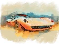 Cheetah front s (Stefan Marjoram) Tags: sketch drawing ipad pro procreate apple pencil car vintage racing plein air