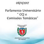 Parlamento Universitário - CCJ e Comissões Temáticas 08/11/2017