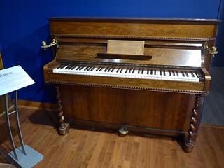 Liszt's favorite upright piano (Erard 1844), Schubert club museum