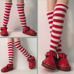 """Wouldn't be Christmas time without your """"Candy Cane Tall Socks"""""""