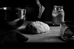 making sourdough bread (auntneecey) Tags: monochrome bread baking sourdough hand blackandwhite 365the2017edition 3652017 day313365 9nov17