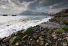 Seashore (mvj photography) Tags: uk scotland ecosse elgol skye stones pierres nuages clouds plage beach mer sea water eau vagues waves longexposure poselongue