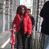 RED JACKET (Jan Herremans) Tags: belgium antwerpen centralstation red lady smart