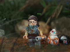 Rey is back from a battle.... The Last Jedi.... (Legoliscious) Tags: lego legography starwarslego starwars lucasfilm thelastjedi rey bb8 battle war forest strongwoman droid droids hero theforceawakens theforce legos enemy upclose macro toy toys last lastjedi olympus bb9 macrodreams lightsaber starwarsfan sciencefiction science geek geeky geeks starwarsart minifig minifigures mud woods strong power