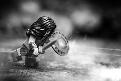 Resistance (minifigphoto) Tags: lego legophotography legoart macro wonderwoman sword shield trenches minifigs blackandwhite effects movie
