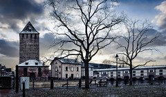 Quartier la Petite France à Strasbourg (thierrybalint) Tags: strasbourg petitefrance barrage vauban nikoniste sky tree building hiver winter ville town place square