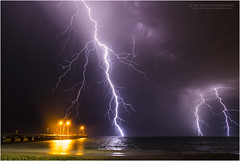 Coogee lightning (beninfreo) Tags: lightning storm woodmanpoint ammojetty coogeebeach fremantle westernaustralia canon 5d3 australia thunderstorm thunder