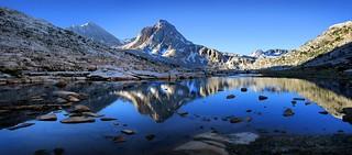 Mt Huxley Over Saphire Lake Morning - John Muir Trail