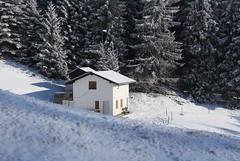 chez Larze (bulbocode909) Tags: valais suisse montchemin chezlarze maisons bancs montagnes nature neige forêts arbres givre