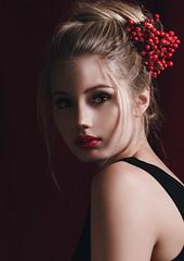 (kristina.tsvetkova) Tags: portrait portraitphotography portraiture red redlips beauty beautiful helsinki artphotography finland finnishgirl studio studiolight people model editorial