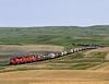 Dunkirk SK Tuesday May 27th 1997 1325CST (Hoopy2342) Tags: train rail railroad railway canadianpacific canadianpacificrailway dunkirk saskatchewan sask cactushills prairie