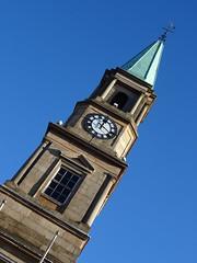 Airdrie Town Clock (Wider World) Tags: scotland northlanarkshire airdrie steeple spire town clock classical doric pediment window alexanderbaird