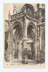 Rouen - Eglise St.-Vincent (pepandtim) Tags: postcard old early nostalgia nostalgic carte postale rouen eglise st vincent nd porch church seine stained glass removed enemy bombing ww2 pile rubble damaged nearby cathedral bombed oblivion gothic 34res54