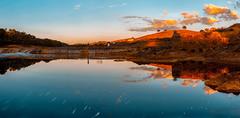 _DSC9774-75-76-PANO+nick (jsanchezq65) Tags: warm cool calido sunset sundown colors color river waterreflexion longexposure longexposurewater clouds sky landscape paisajes nubes atardecer
