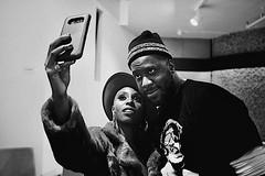 Backstage. (_Okobe_) Tags: black white backstage artist music afro jazz soul afropunk glasper mvula laura robert selfie iphone moment