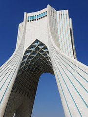 Azadi Tower (RobertLx) Tags: building monument white islam iran tehran city asia middleeast blue modern contemporary architecture sky tower