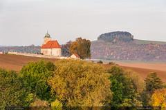 Kostel sv. Jakuba – Roštín (jirka.zapalka) Tags: chriby landscape field trees forest czech rostin church autumn