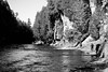 stay on the edge (jellamalo) Tags: nature hike river adventure blakandwhite
