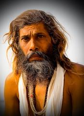 Sadhu (klauslang99) Tags: streetphotography travel klauslang sadhu varanasi india man person portrait face ngc hinduism