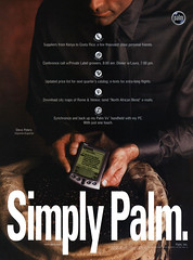 Palm Vx, 2000 ad (Tom Simpson) Tags: palmv palmvx palmpilot handheld computer device electronics vintage 2000 2000s ad ads advertising advertisement vintagead vintageads