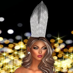 Heth Haute Couture- The Galaxy Crown (Xiomara Lavendel) Tags: hethhautecouture couturefashion doux accessories secondlifemodel slmodel slfashion secondlifefashion secondlife hair xiomaralavendel