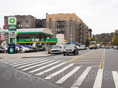 Intersection of Sherman Avenue and Tenth Avenue, Inwood, New York City (jag9889) Tags: 10av 10ave 10thavenue 2017 20171107 architecture auto automobile bp bicycle bike biking building car crosswalk cycling gasstation house intersection inwood inwoodite lamppost lane manhattan ny nyc newyork newyorkcity outdoor road shermanavenue tenthavenue transportation tree usa unitedstates unitedstatesofamerica uppermanhattan vehicle wahi jag9889