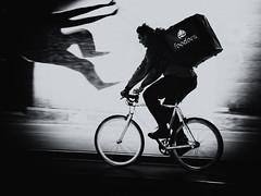speed (Sandy...J) Tags: speed biker bicycle atmosphäre alone blackwhite bw black white light shadow noir urban underpass tunnel man monochrom germany grafitti street streetphotography sw photography fotografie deutschland city fahrrad unterführung tempo motion