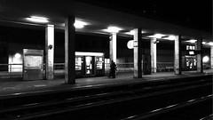 """Night_Capture"" (giannipaoloziliani) Tags: nikonphotography raw notte station people shape railway dark darkness capture night genova genovasampierdarena genoa"