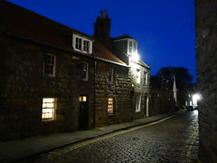 The Blue Night (Ian Robin Jackson) Tags: blue houses aberdeen street scotland oldaberdeen bluehour sunday sony zeiss city night light