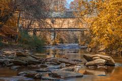 Concord Covered Bridge (Brandon Westerman WNP) Tags: concord covered bridge smyrna georgia fall autumn creek trees tree rocks rock architecture civilwar