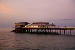D17514.  Cromer Pier, North Norfolk. (Ron Fisher) Tags: cromer norfolk northnorfolk eastanglia england gb greatbritain uk unitedkingdom europe sony sonyrx100iii sonyrx100m3 pier night nightshots sea water waser ocean coast evening